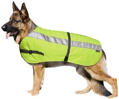 Petlife Warnweste für Hunde, mit warmem Thermofutter, 76,2 cm, fluoreszierendes Gelb
