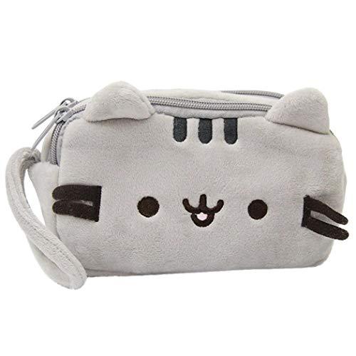 Tpingfe Federmäppchen mit Katzen-Motiv, niedliches Plüsch, für Make-up, Kosmetiktasche, für Kinder oder Schreibwaren -