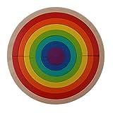 MagiDeal Mehrfarbig Hölzerne Regenbogen Stapelspiel Bausteine Pädagogisches Spielzeug für Kinder