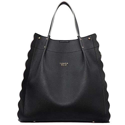 Tosca Blu , Sac à main pour femme Noir Noir 33,5x30cm