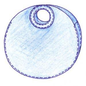 Einkaufstasche rund aus Filz (100% Wolle) Tasche von i.Punkt Orange
