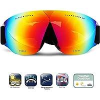 8128d25da8 Wsobue Gafas de esquí, Gafas de Snowboard, antiniebla, protección UV, Gafas  de