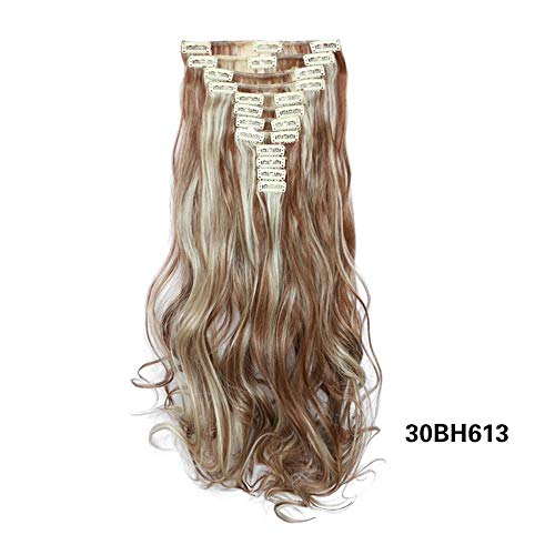 LeeyღღღDamen Frauen Perücke Natur lange lockige Glattes Haar Wig hitzebeständiges Kunsthaar Schwarz für Cosplay Karneval oder Party, Fasching Kostüm Glamourös Haarteil (Neu-04)