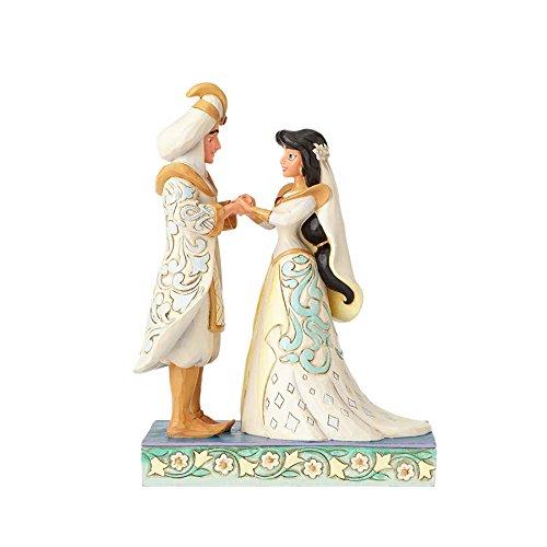 Jim Shore Disney Traditions by Enesco Jasmin & Aladdin Hochzeit Figur 4056750 Ein Traum wird wahr