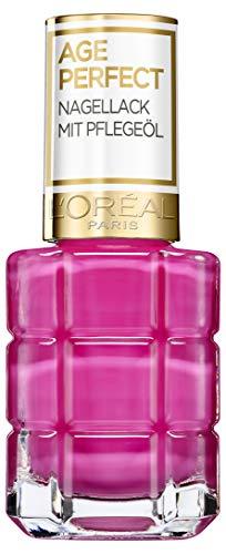 L'Oréal Paris Age Perfect Nagellack mit Pflegeöl in Nr. 228 rose bouquet, für glatte und glänzende Nägel, in pink, 13,5 ml