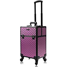 d865cbc2a Beauty Case Maleta Multiusos Tipo Trolley Maletín para Maquillaje Estuche  de Maquillaje,Purple