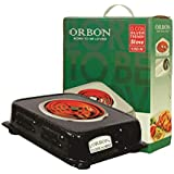 ORBON 1250 Watt Rectangular Marble Vitreous Black G Coil Stove Hot Plate Induction Cooktop/Induction Cookers/Electric Cooking Heater/Induction Radient Cooktop ( MADE IN INDIA )( HUGE DIWALI DISCOUNT & FREE SHIPPING )