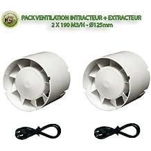 Florateck–ventilación unidades–plus Intractor extractor–2x 190m3/h