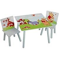 Disney Winnie Pooh Tisch mit Stühlen 60x60cm Holz Kindersitzgruppe Kindersitzgarnitur NEU - preisvergleich