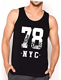 Veirdo Round Neck Sleeveless Cotton Tshirts For Men