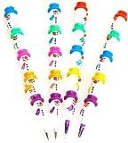 TOOGOO(R) 4Pcs Stackable Snowman Crayons And Pencils