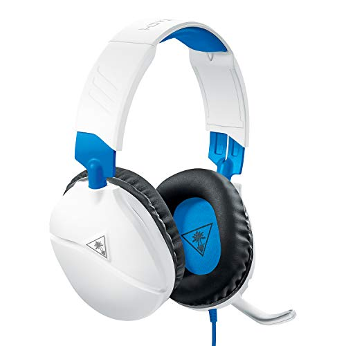 Turtle Beach Recon 70P Casque Gaming pour PS4/Xbox One/Nintendo Switch/PC, Blanc