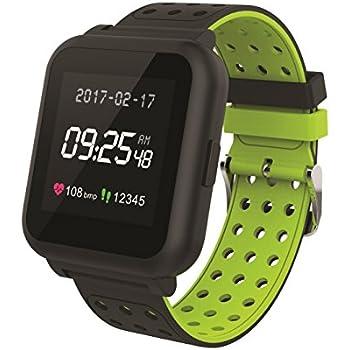 Muvit I/O MIOSMW010 Reloj de Actividad y Sueño, Negro y Verde, M