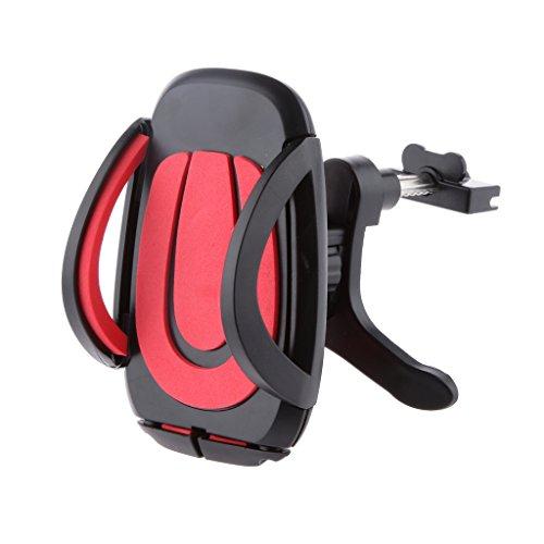 Auto Luft 360 Grad Halter Für Telefon GPS Zelle Stehen - Rot (Zelle Stehen)