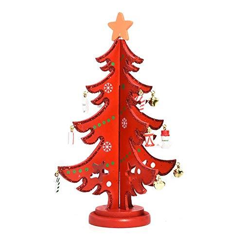 SPFAZJ Christmas Ornamente Weihnachten Dekoration Geschenke kreative DIY handgefertigte Kombination aus hölzernen Desktop Weihnachtsschmuck S