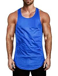 Yying Hombre Fitness Casual Camisetas Sin Mangas de Malla para Hombre Camisetas Sin Mangas de Músculo Activo Chalecos Camisetas entalladas