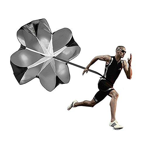 Running Speed Training, Resistance Fallschirm, 56-Zoll-Geschwindigkeit Drills Resistance Parachute Running Fallschirm für Power Speed, Fußball und Fußball-Bohren