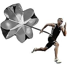 Paracaídas de resistencia para entrenamiento de velocidad, resistencia a los taladros de velocidad, resistencia al paracaídas, para velocidad de potencia, balón de fútbol y taladros de fútbol