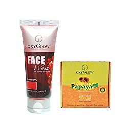 Oxyglow Papaya Facial Kit with Strawberry Face Wash