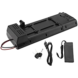 Blackpoolal E-Bike Elektrofahrrad Pedelec Akku Set 36V 10AH 360W Li-Ion Batterie High Power Zellen + Ladegerät, Umbausatz/Umrüstsatz, Conversion Kit Schwarz