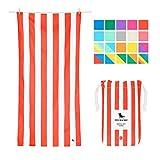 Dock & Bay Toallas de Microfibra para Playa y Viajes | Cabana - Rojo | 160x80cm