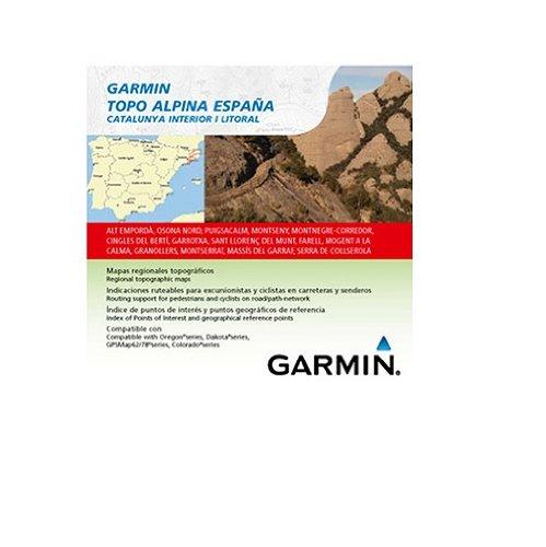 Garmin Topo Alpina España - Mapas para GPS, cobertura geográfica, Catalunya interior y litoral