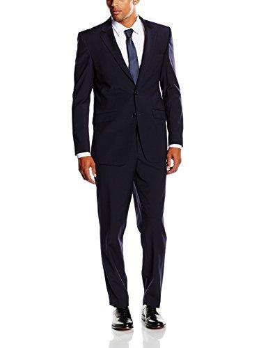 Stretch-zwei-knopf-anzug (BlueBlack Herren Slim Fit Anzug Belluno, mit Stretch-Anteil, Gr. 106, Blau (marine 15))
