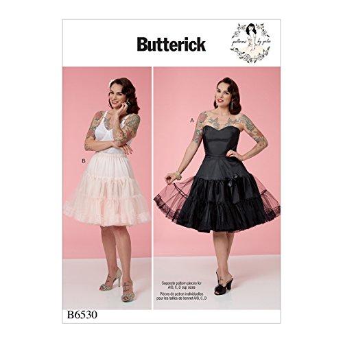 Butterick Patterns 6530A5Schnittmuster Full Slip und Petticoat Schnittmuster, Tissue, Mehrfarbig, 17x 0,5x 22cm Taft Slip