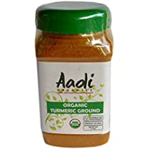 Aadi Organics - All Organic Indian Turmeric Powder - 6oz / 170g per Wide Mouthed Bottle - Cooking, Kitchen Use, Flavoring Herbs and Spices