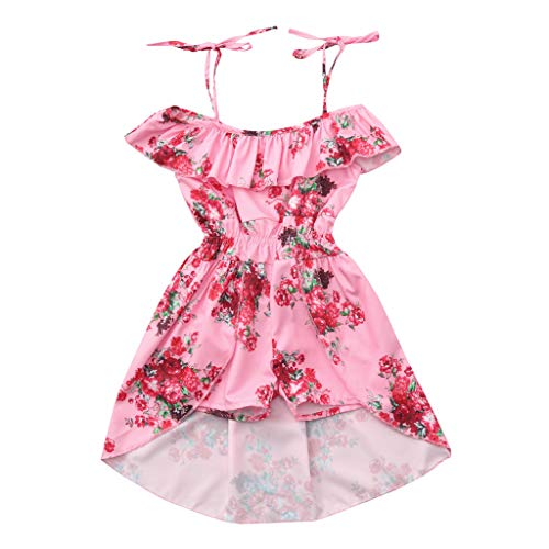 Bibao Baby Mädchen (0-24 Monate) Kleid rosa Rose 12-18 Monate