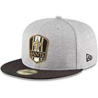 446adf850 New Era New Orleans Saints NFL Sideline 18 Road On Field Cap 59fifty Fitted  OTC