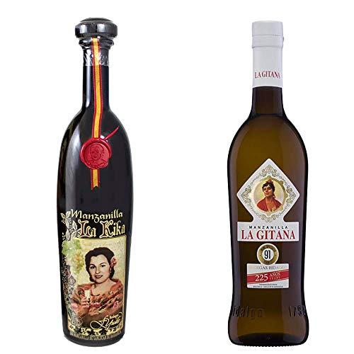 Manzanilla La Kika Y Manzanilla La Gitana - D. O. Manzanilla De Sanlúcar De Barrameda - 2 Botellas De 750 Ml