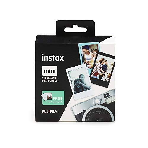 Instax Mini 3er Pack Monochrome, SkyBlue, Black + Magnete