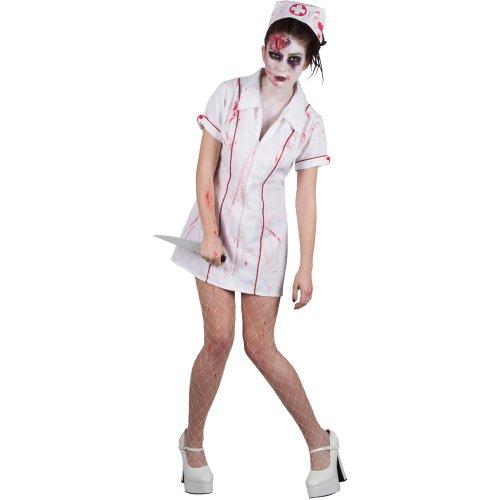 Zombie Krankenschwester Horror Verkleidung Frauen Halloween Kostüm (Kostüme Wicked Krankenschwester)