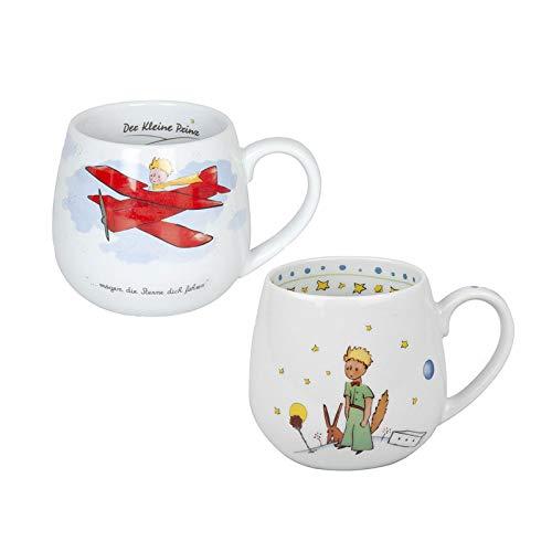 Könitz Porzellan Kaffee Becher Kaffee Tasse Tee Tasse Kuschelbecher Set Der Kleine Prinz 2 teilig, tolle Geschenkidee schöne Kinder Tassen (Kaffee-tassen Konitz)