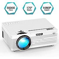 """Mini Proiettore, YABER LED Proiettore 3600 Lumen videoproiettore Home Cinema con 170"""" Display Videoproiettore 1080P Supportato, Compatible con Fire TV Stick, PS4, HDMI, VGA, TF, AV e USB"""