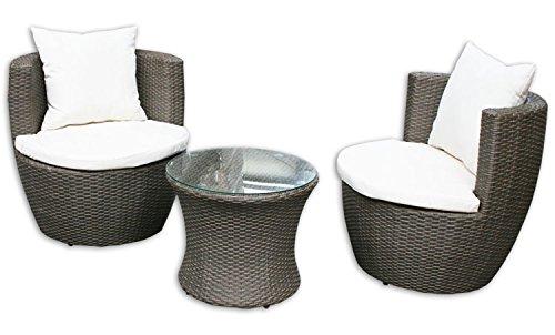 KMH, 3-teilige Gartensitzgruppe *Felipa* inklusive Sesselauflage und Kissen - Farbkombination:...