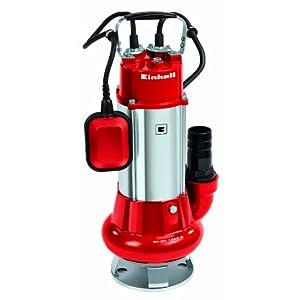 Einhell GC-DP 1340 G – Bomba de aguas sucias (1300 W, capacidad de 23.000 l/h, profundidad max. de inversión 5m, conexión de manguera 59.6mm, cuerpos extraños hasta 40 mm, incl. cable de 6 metros)