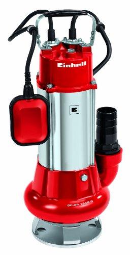 Einhell GC-DP 1340 G - Bomba de aguas sucias (1300 W, capacidad de 23.000 l/h, profundidad max. de inversión 5m, conexión de manguera 59.6mm, cuerpos extraños hasta 40 mm, incl. cable de 6 metros)