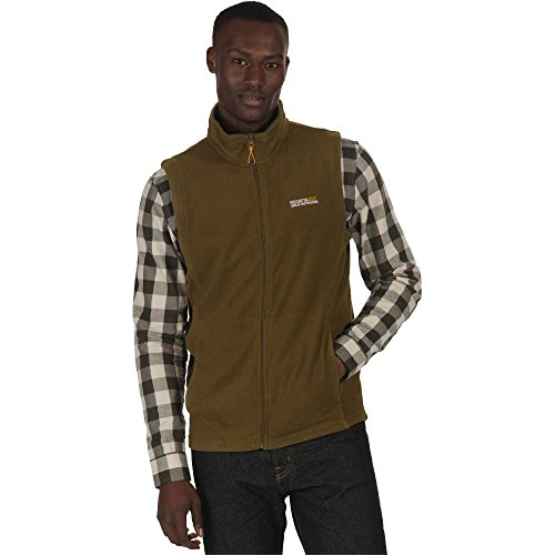 Regatta Mens Tobias II Lightweight Fleece Walking Gilet Bodywarmer (Fleece Trim Hoodie)