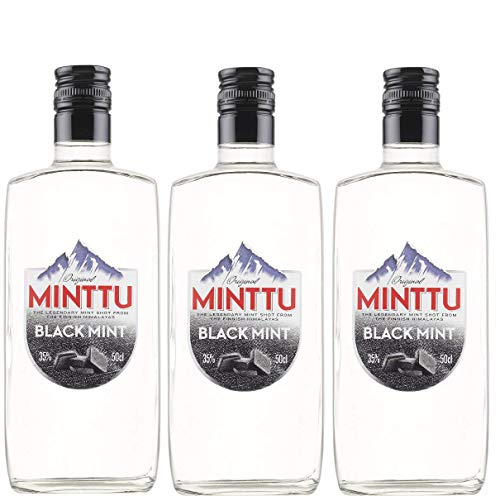 Black Mint Liqueur - 3 Paquetes de 3 x 500 ml - Total: 1500 ml