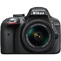 Nikon D3300 Digital SLR Camera - Black (24.2 MP, AF-P 18-55 Non-VR Lens Kit) 3-Inch LCD Screen