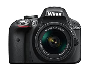 Nikon D3300 Digital SLR Camera - Black (24.2 MP, AF-P 18-55 Non-VR Lens Kit) 3-Inch LCD Screen