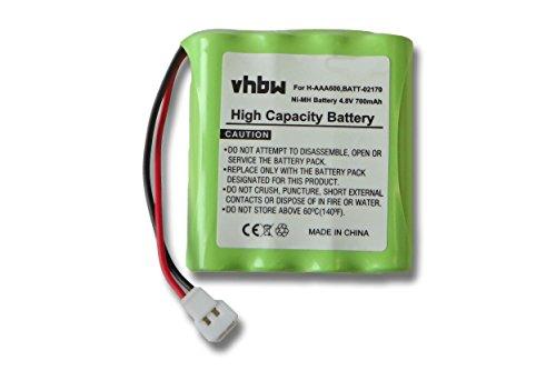 vhbw Akku passend für Philips, Summer & Lindam Baby Talk LD78R etc. Babyfon (700mAh, 4.8V, NiMH)