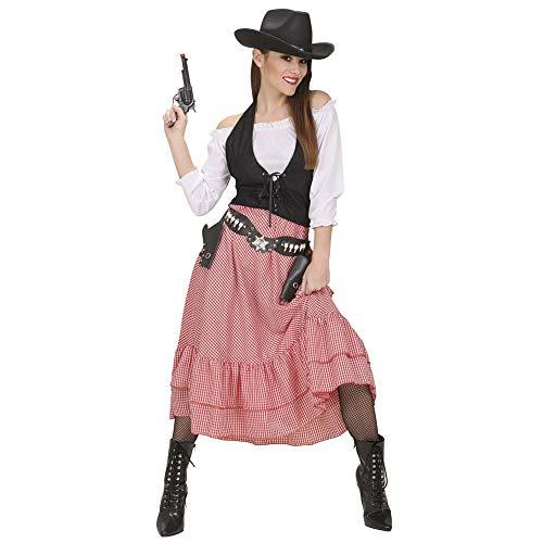 WIDMANN 58453 Erwachsenenkostüm Cowgirl Damen Mehrfarbig L (Damen Kostüm Cowgirl)
