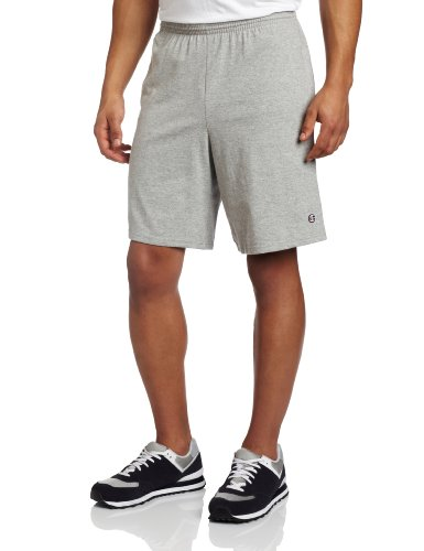 Champion Herren Short, Oxford Grey, M (Fit Baumwolle Custom Shorts)