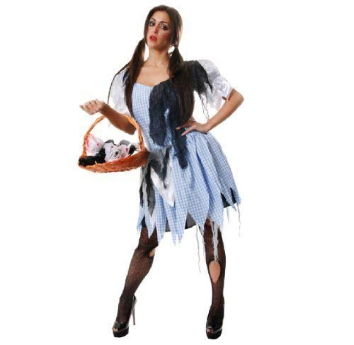 COUNTRY GIRL DAMEN DOROTHY MAID ZOMBIE HALLOWEEN KOSTÜM OUTFIT (Damen Dorothy Halloween-kostüm)