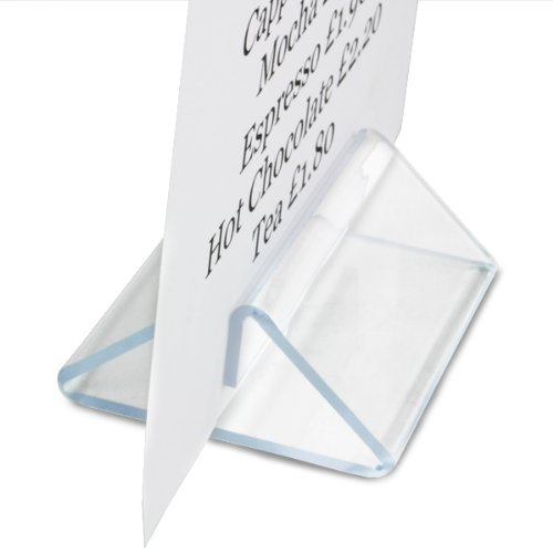 Plexiglas Zelt Typ Menu Halterung–Set von 10Menü Display Halter, Tisch Top Schild Display, geeignet für A4und A5
