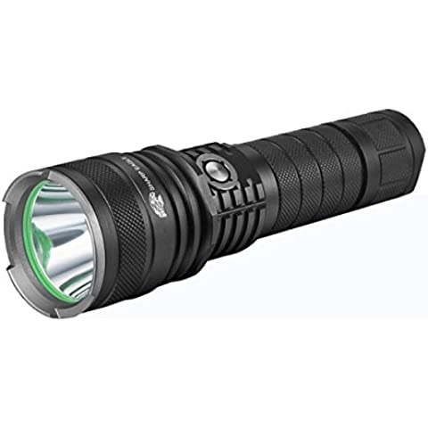 SHARP EAGLE XC CREE XM-L2 5-Mode 1200lm IP × 6 LED Torcia Faretto (1 × 26650 Batteria Neutral Luce Bianca )(Black)