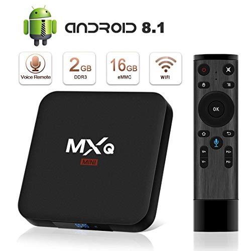 TV Box Android 8.1 4K Boîtier TV [4GB RAM+32GB ROM] [2018 Dernière Version] SUPERPOW Smart TV Contrôle Vocal, Android Box avec HD/H.265 / 4K / 3D Cadeau pour Noel